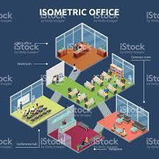 building plan isometric office 3 floor building plan stock vector art 546181232