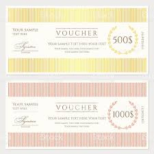 Free Cheque Template Voucher Gift Certificate Coupon Template Stock Vector Art