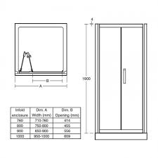 Infold Shower Door by Ideal Standard Synergy Infold Alcove Shower Door 900mm L6208eo