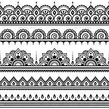 mehndi indian henna tattoo seamless pattern indian henna
