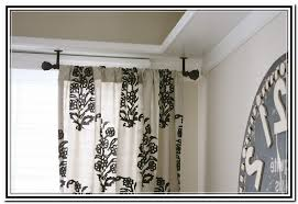 Ceiling Mount Drapery Rod Bay Window Ceiling Mount Curtain Rods Home Design Ideas