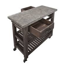 Kitchen Island On Casters Kitchen Islands U0026 Carts Large Stainless Steel Portable Kitchen