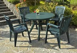 White Resin Patio Table Outdoor Table And Chairs Plastic Landscaping Backyards Ideas