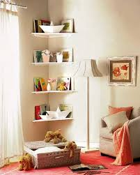 Simple DIY Corner Book Shelves Adding Storage Spaces To Small Kids - Bedroom shelf designs