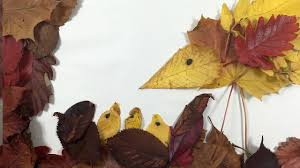 leaf collage simple fall crafts for kids youtube
