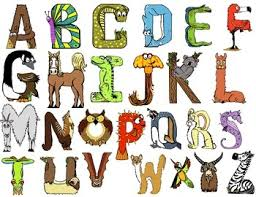 themed letters animal alphabet letters clip 24
