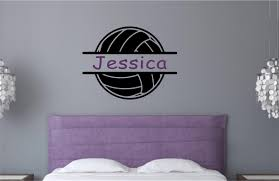 personalized custom name volleyball vinyl decal wall stickers personalized custom name volleyball vinyl decal wall stickers letters words teen room sports decor