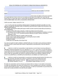 Blank Medical Power Of Attorney Form by Indiana Durable Medical Power Of Attorney Form Living Will Forms