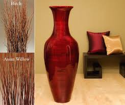 Large Floor Vases For Home Chic Red Floor Vase 13 Bamboo Floor Vase With Orange Red Lilies