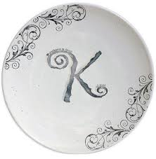 wedding platter guest book museware pottery silver circle