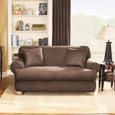 Sure Fit Cotton Duck T Cushion Sofa Slipcover by T Cushion Sofa Covers Best Home Furniture Decoration