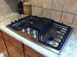 Design Ideas For Gas Cooktop With Downdraft Kitchen Design Quartz Granite Countertop With Simple Ideas Gas