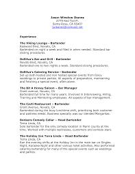 Server Sample Resume by Download Server Bartender Resume Haadyaooverbayresort Com