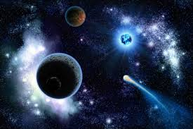 galaxy wall mural the two planets solarsystem in the galaxy wall mural pixers