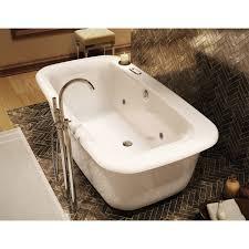 maax 105756 000 001 miles freestanding bathtub with white apron