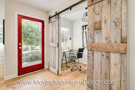 Barn Door Office by Los Angeles Home Staging Contemporary Home Staging