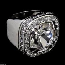 the cartel wedding band clear iced out ring chunky big heavy hip