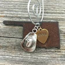 montana rustic 2017 state christmas ornament hand stamped