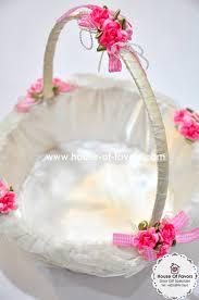 wedding baskets wedding flowers flower basket wedding