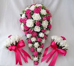 wedding flowers pink wedding flowers bouquets brides bouquet 2 posies ivory hot