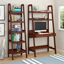 Bookcase With Ladder by Ameriwood Home Platform Mahogany Ladder Bookcase Walmart Com