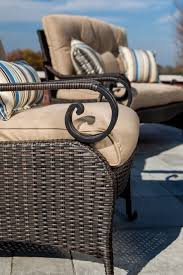 Lazyboy Outdoor Furniture Lake Como Deep Seating Wicker Patio Furniture Set Khaki Tan 6