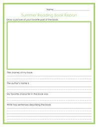college book report template 5th grade book report outlines