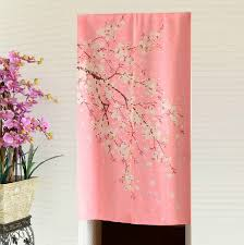 Cherry Blossom Curtains Japanese Cherry Blossom Pink Door Curtain Feng Shui Bedroom