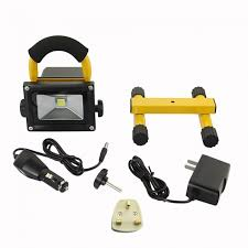 10w rechargeable flood light portable rechargeable led floodlight with yellow frame 100w halogen