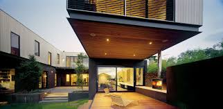 big terrace with recessed light in wooden ceiling also white