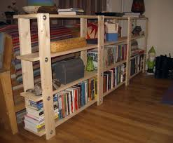 How To Make A Cheap Bookcase Natural Finish Cherry Wood Modern Bookcases Which Has Four Storage