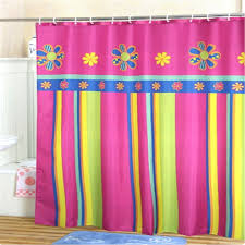 Colorful Fabric Shower Curtains Orange Chevron Pattern Shower Curtain And Bathroom Towel With
