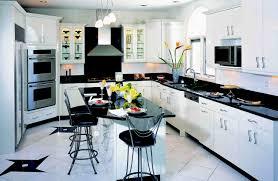 Black And White Kitchens Modern White Kitchen Cabinets With Dark Floors Fancy Home Design