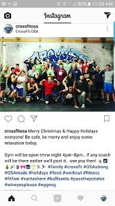 merry christmas crossfit osa