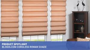 cordless roman shade product spotlight blinds com video gallery