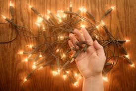 checking and repairing christmas lights