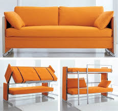 Orange Sofa Bed Sofa Converts To Bunk Beds Craziest Gadgets