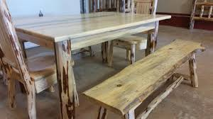 Log Dining Room Tables Montana Pioneer Rustic Log Dining Bench U2013 Great Northern Logworks