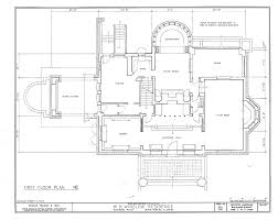 f l wright winslow house ground floor plan near chicago 1894