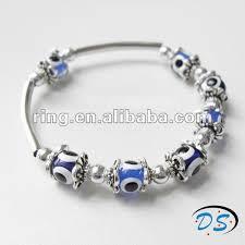 blue eye bracelet images Fashion bead evil eye turkish greek mati silver plated blue eye jpg