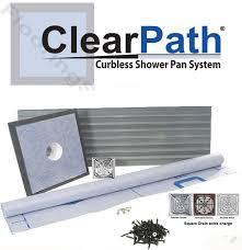 clearpath curbless shower system 3x6 pvc drain cp3x6 pvc
