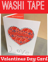 washi tape valentines day card teach me mommy