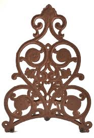 cast iron hose holder ornate floral yard decor