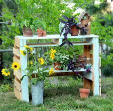 two pallet potting bench hometalk