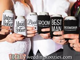 wedding gift koozies 18 best wedding party can coolers images on coolers