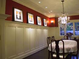 dining room molding ideas lit crown molding ideas as plate rail wainscot to display