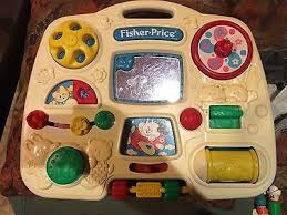 fisher price activity center 1175 busy box 1993 baby infant toy