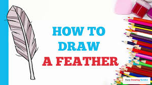 how to draw a feather in a few easy steps drawing tutorial for
