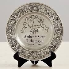 50th anniversary plate anniversary pewter plate gifts for 50th wedding anniversary