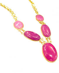 necklace pink stone images Pink stone necklace indiancultr jpg